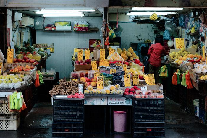 市場の青果店