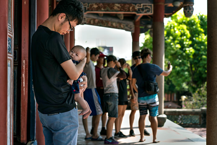 Father Holding His Baby (Taiwan)