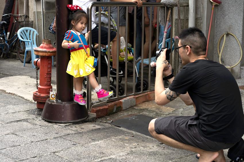 Girl wearing Cinderella costume