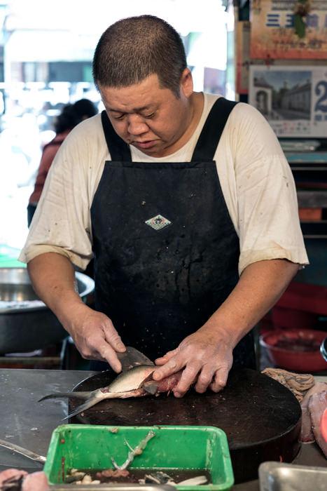Fish On The Round Chopping Block (Taiwan)