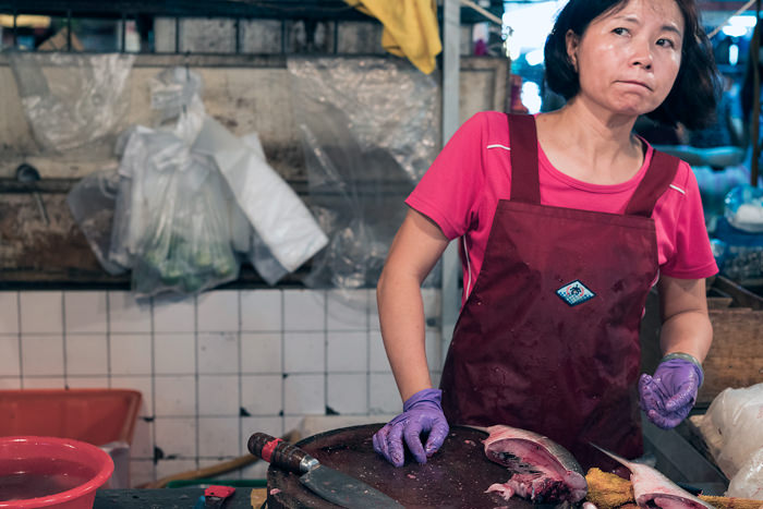 Fishmonger With Purple Gloves (Taiwan)