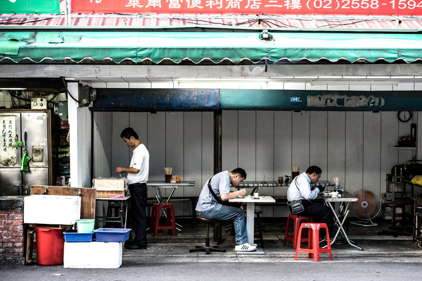 台北の軽食堂