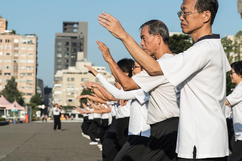 People doing Tai Chi