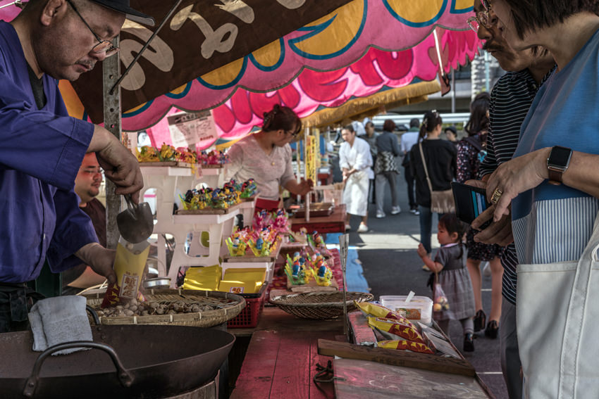 Stall selling gingko nuts