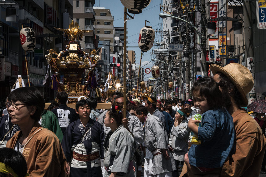 Parade of carrying shrines