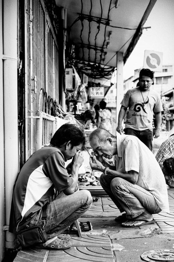 Men being bent on Phra Kruang