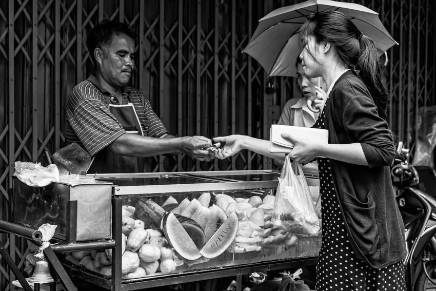 果物の露店