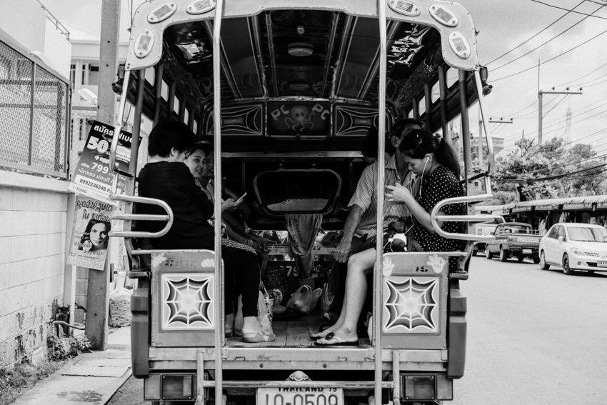 Songthaew by roadside