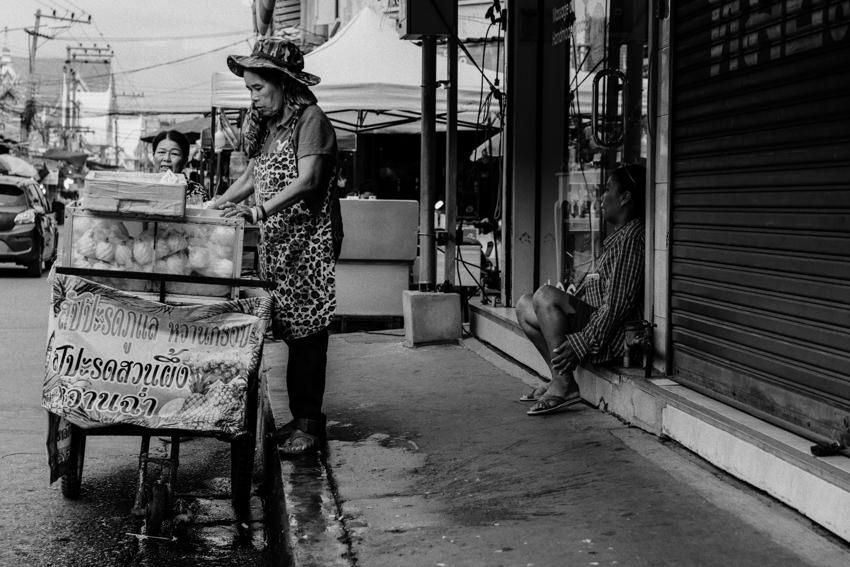 Pineapple seller in Mae Klong