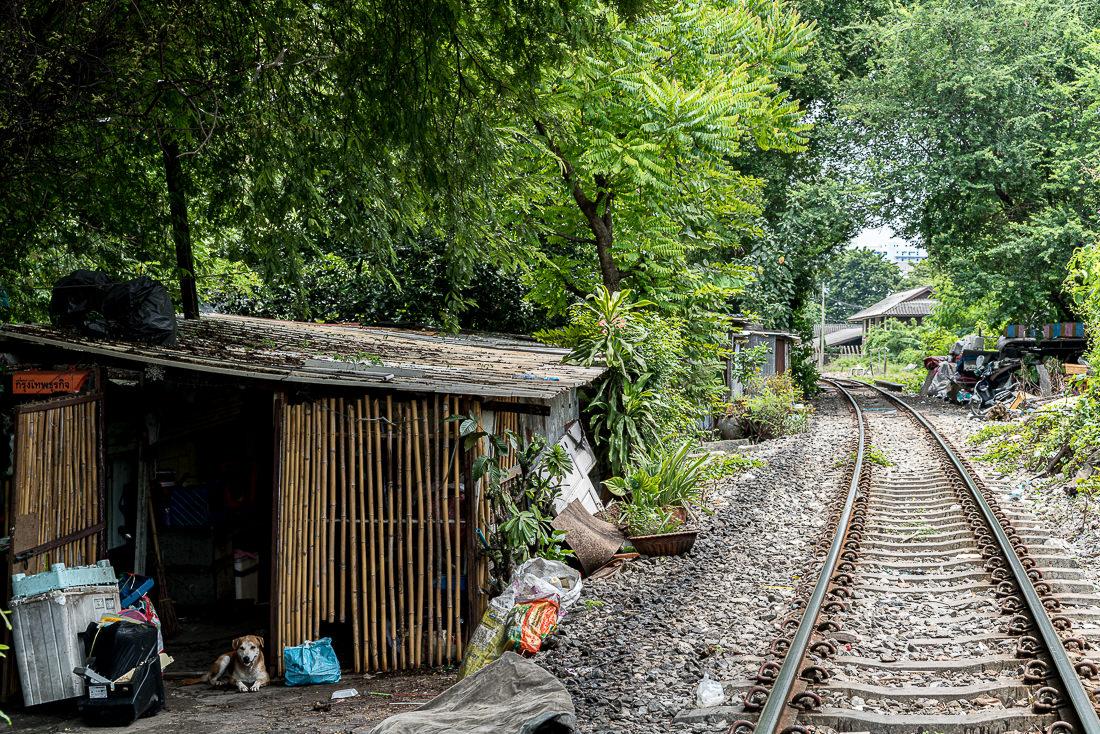 Hut beside railway track
