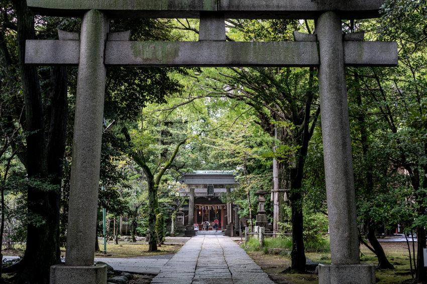 Akasaka Hikawa Jinja at the end of approach