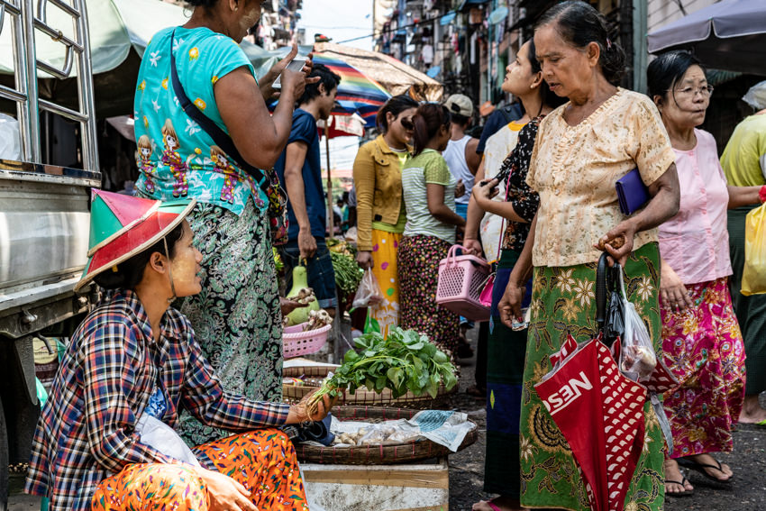 Women in street market