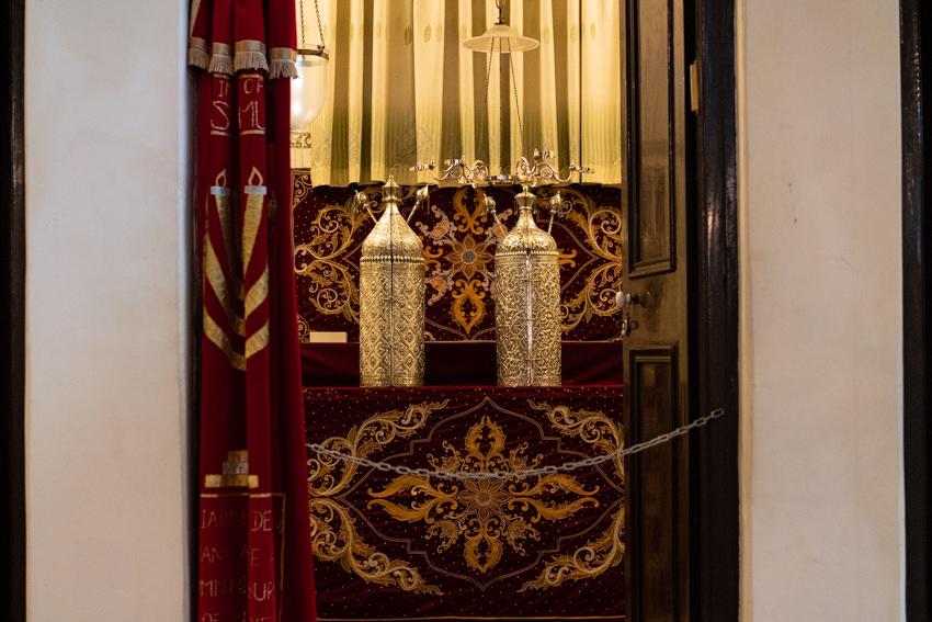 Torah ark in Musmeah Yeshua Synagogue