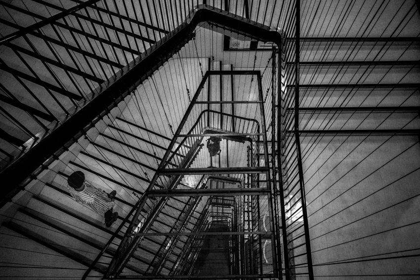 Stairwell in department store