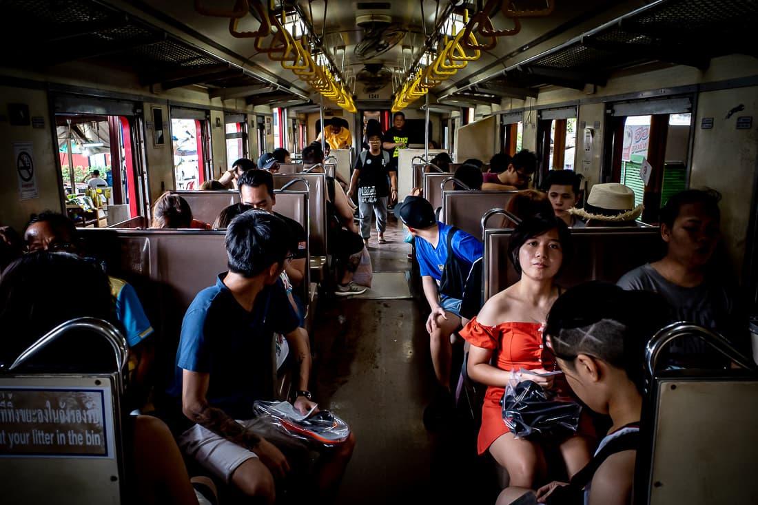 Passengers on Maeklong Railway