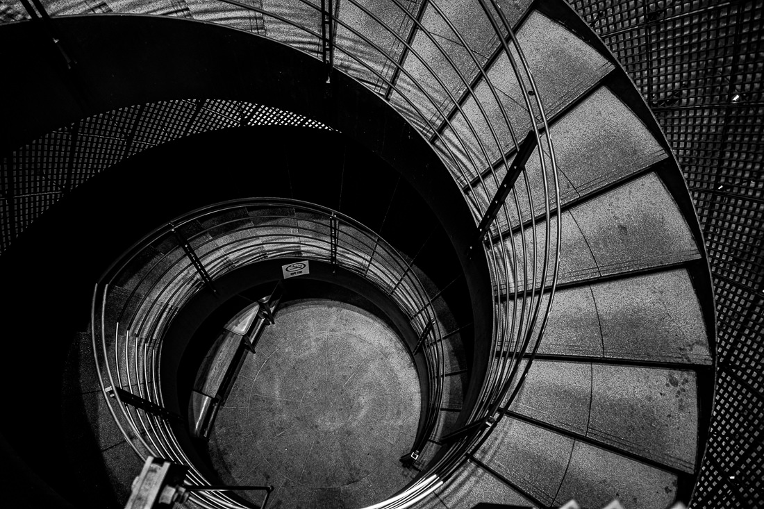 Spiral stairway in Ginza