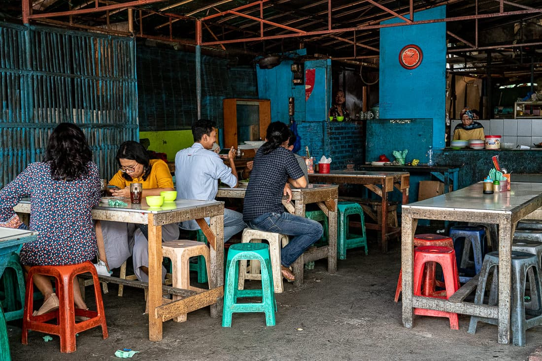 Eating place at the back of an alleyway