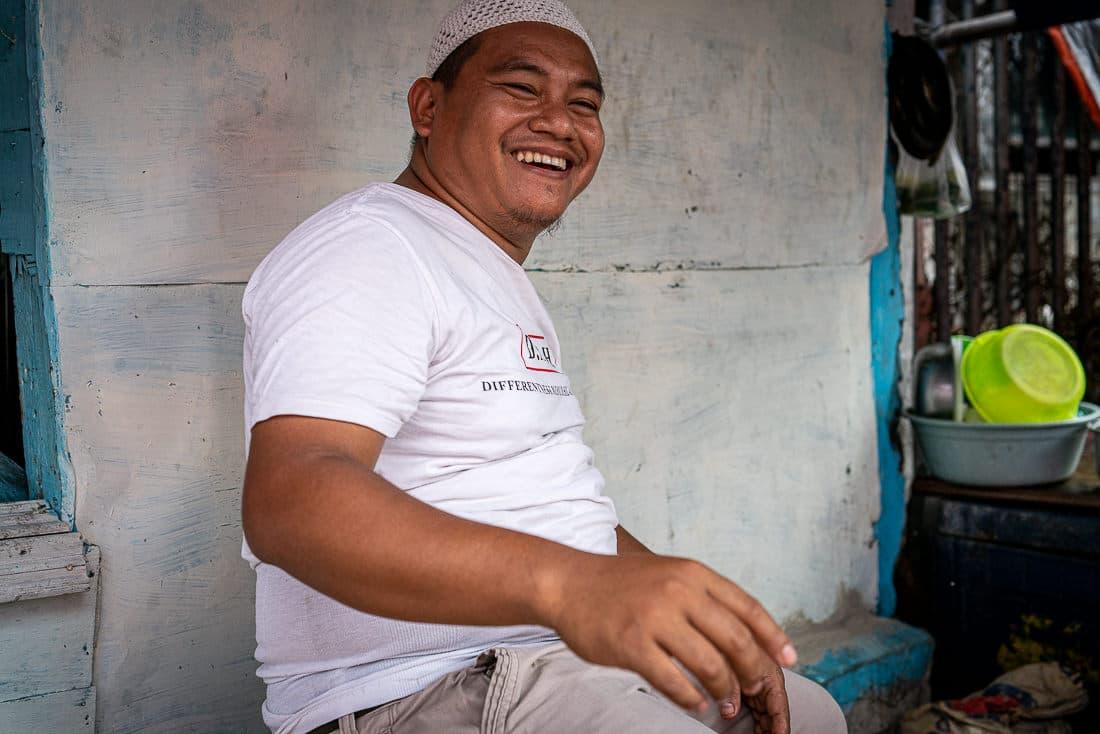 Man wearing a Taqiyah in Jakarta