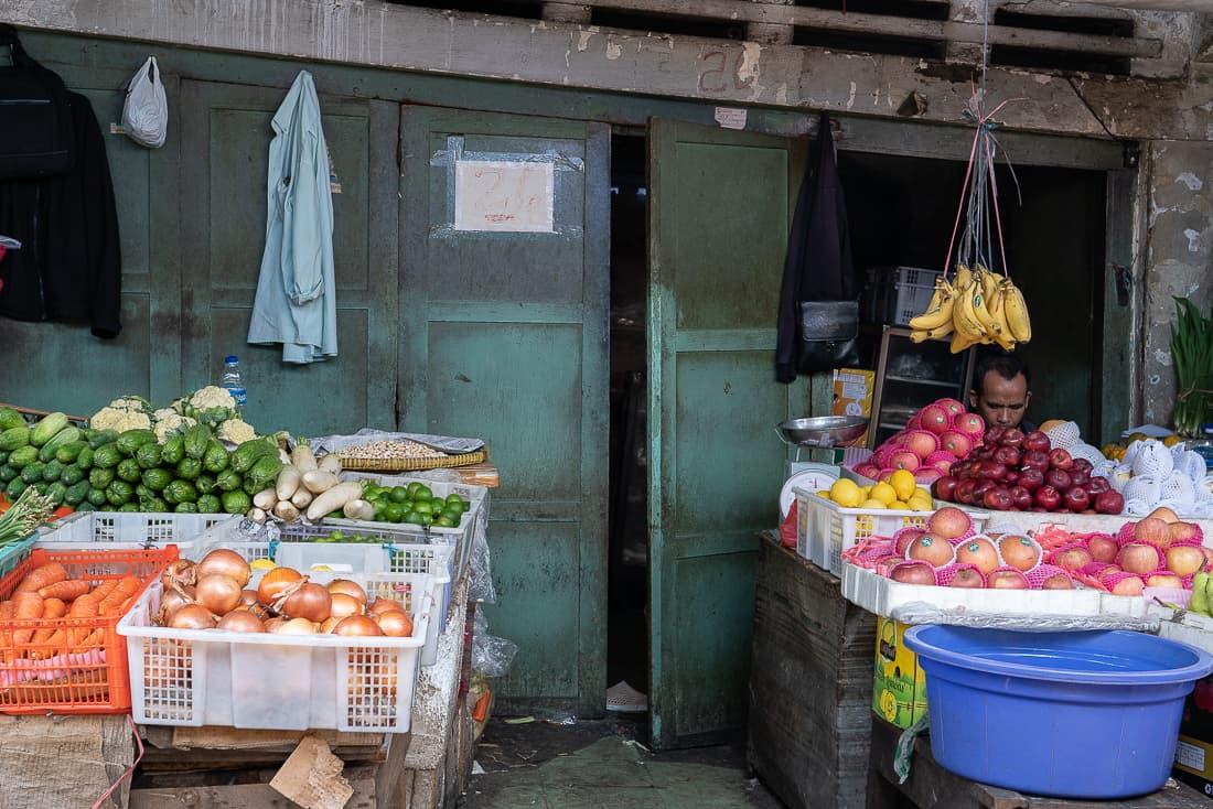 Fruit and vegetable shop selling Banana in Jakarta