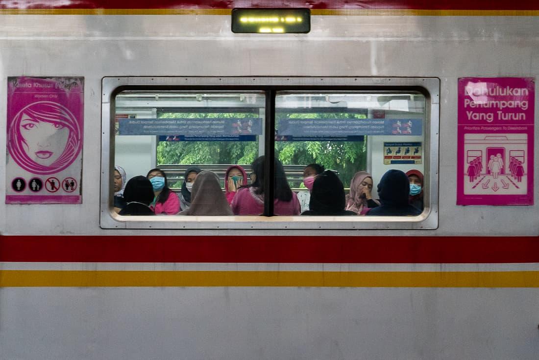 Women-only car in Jakarta