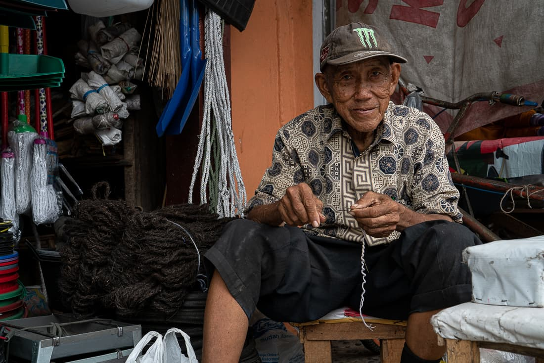 Old man wearing a Monster Energy cap