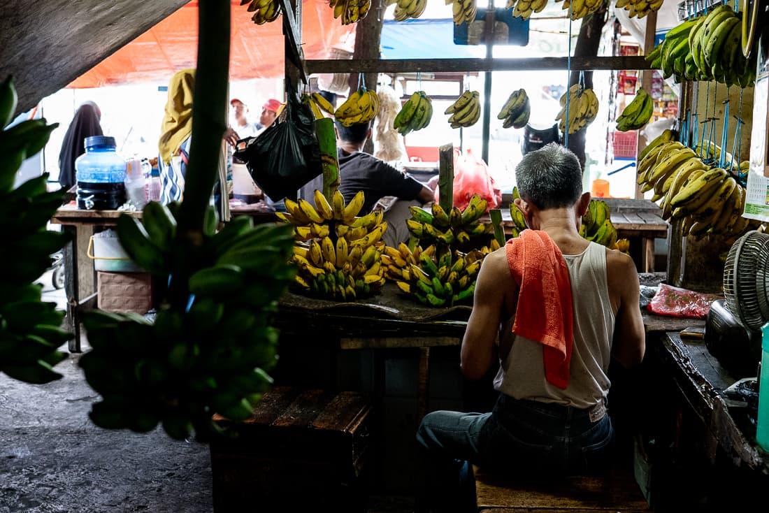 Banana specialty store in Kanoman market