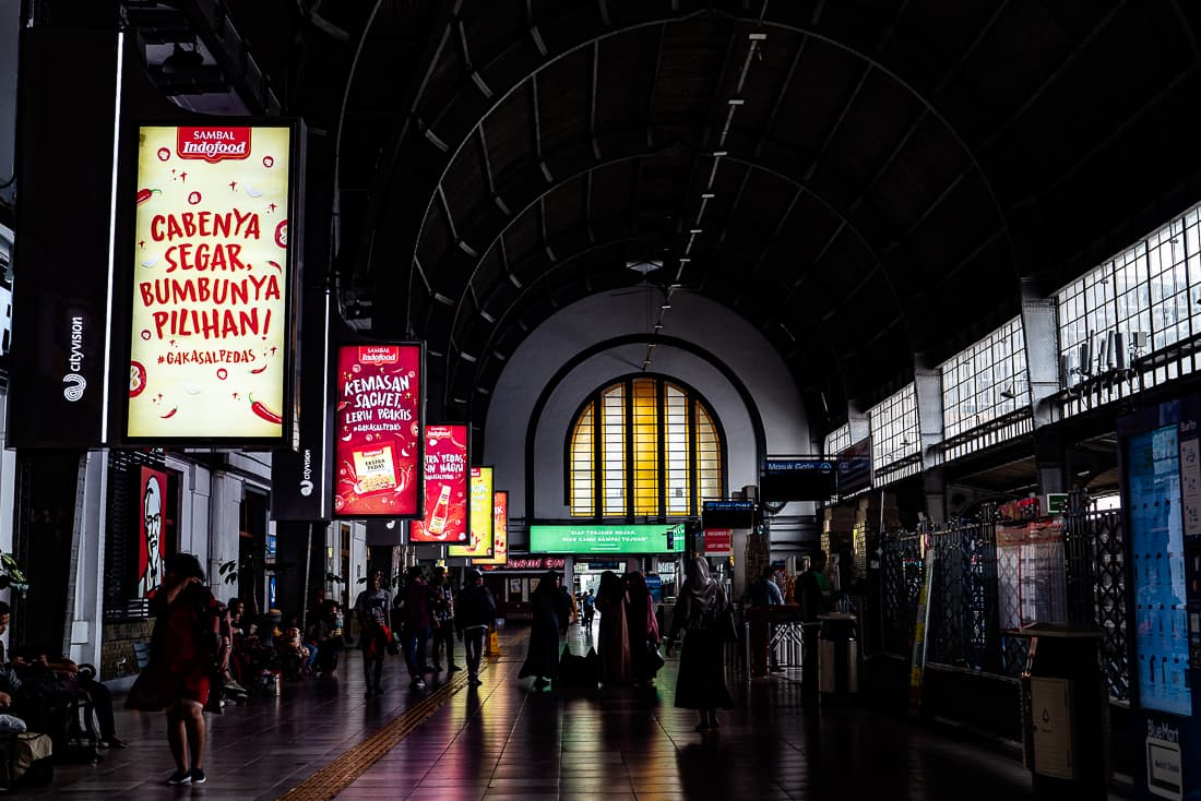ジャカルタ・コタ駅の内部