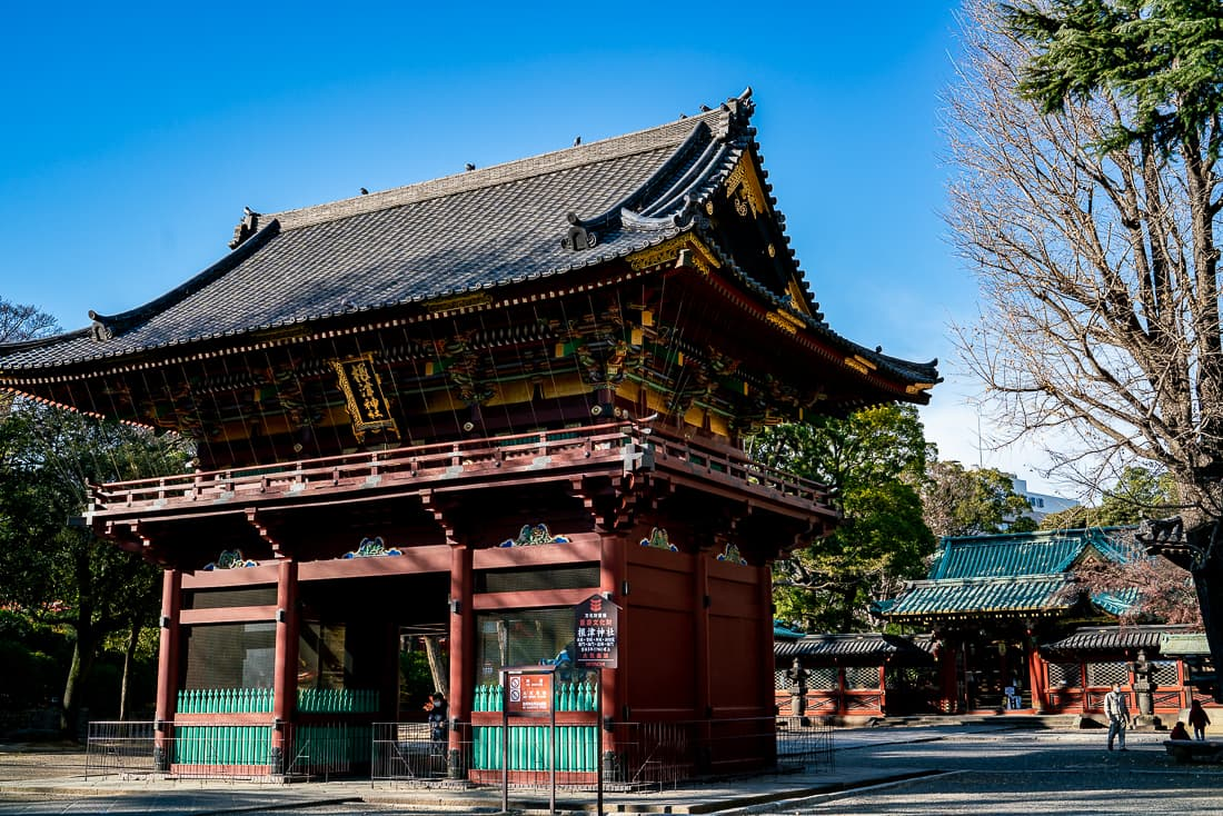 Roh-mon gate of Nezu Jinja Shrine