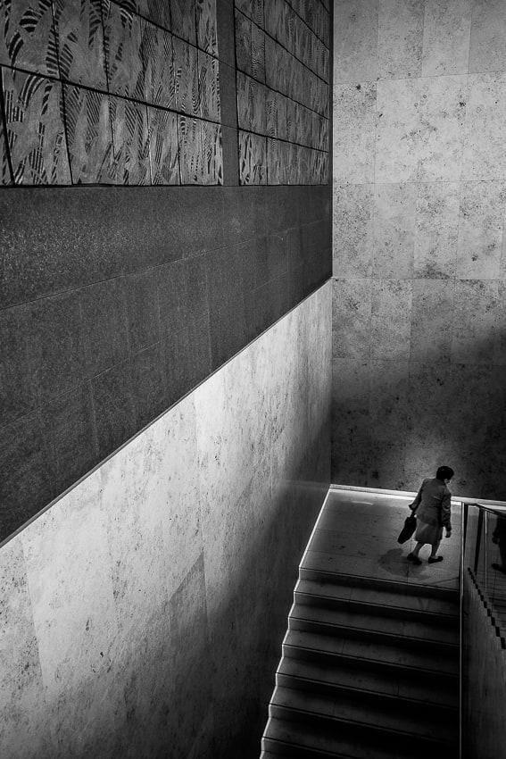 山種美術館の階段