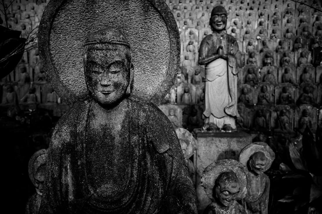 Many Jizo statues in Daien-ji