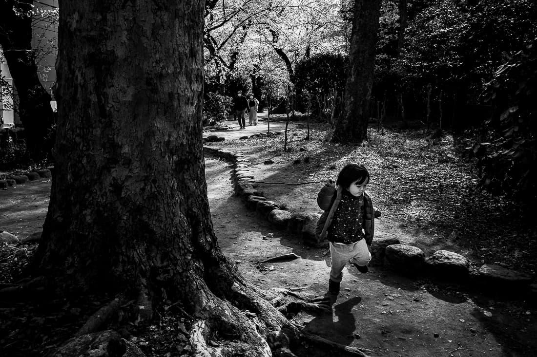 Boy running in Sotobori Park
