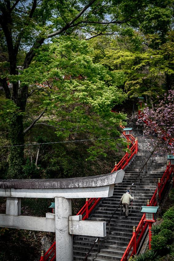 足利織姫神社の男坂