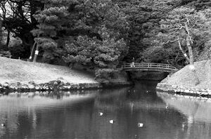 Small bridge in Hamarikyu Gardens