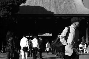 Worshipers in Meiji Jingu
