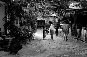 Tranquil street in Ban Xang Hai