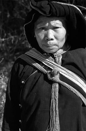 Woman wearing ethnic costume