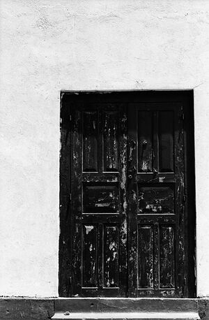 ゴールのフォート地区で見つけた木製の扉