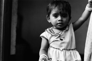 Little girl wearing bindi