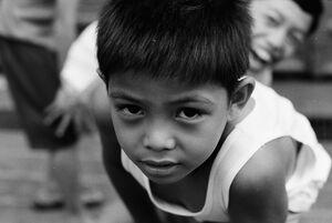 Boy looking into lens