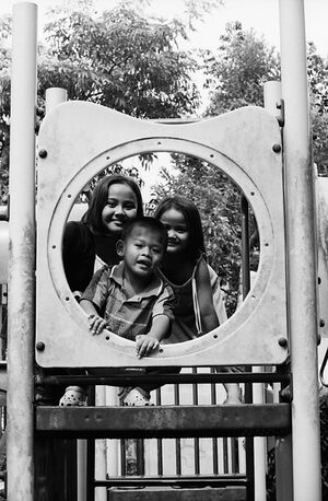 Three kids in circle