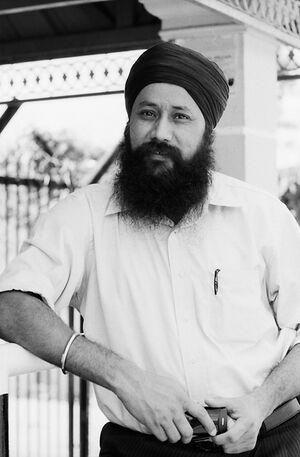 Sikh wearing turban