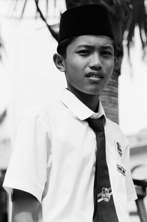 School boy wearing Songkok