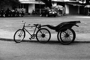使い古された自転車