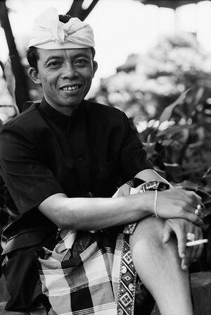 Man wearing sarong