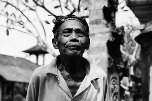 Old man wearing bandana