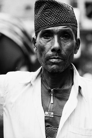 Rickshaw man with hollow cheek