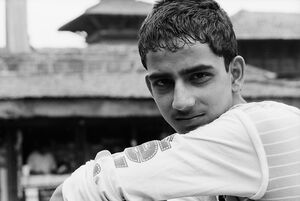 Young man in Durbar square