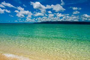 blue ocean in hatoma island