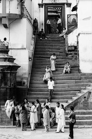 Stone staircase in Pashupatinath