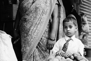 Little boy wearing tie